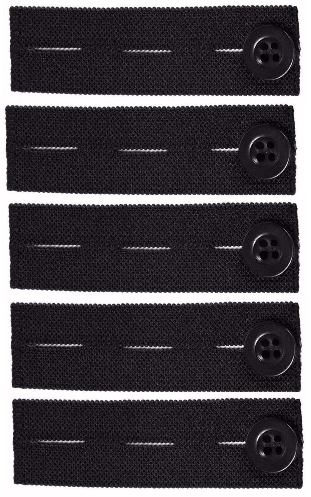 Vancool 5-Pack Adjustable Elastic Pants Waist Extender