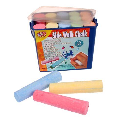 Simon Straßenmalkreide 3x Kreide Boxen mit je 15 Stücken Spielkreide in 5 Farben