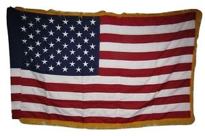 3x5-Embroidered-USA-American-Gold-Fringe-Sleeve-600D-2ply-Nylon-Flag-3-039-x5-039