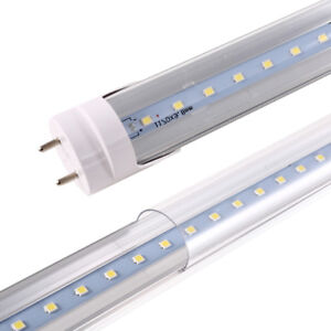 Details About G13 Led Tube Lights Lamp Bulb T8 4 Foot Feet 4ft 48 Inch 18w 4000k Clear Cover