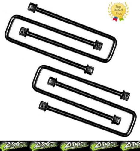 """Zone Offroad 9//16/"""" x 3-1//8/"""" x 9-1//2/"""" Radiused U-bolts Set of 4 Made in the USA"""