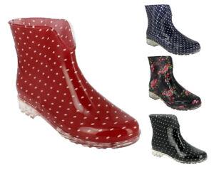 Damen-Maedchen-Gummistiefel-Regenstiefel-Stiefeletten-Slipper-Boots-Schuhe-NEU