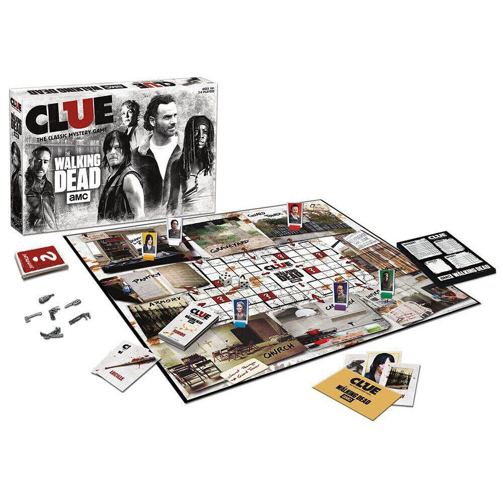 The Walking Dead - Cluedo Jeu de Société Neuf 18  2-6 Joueurs Anglais Version