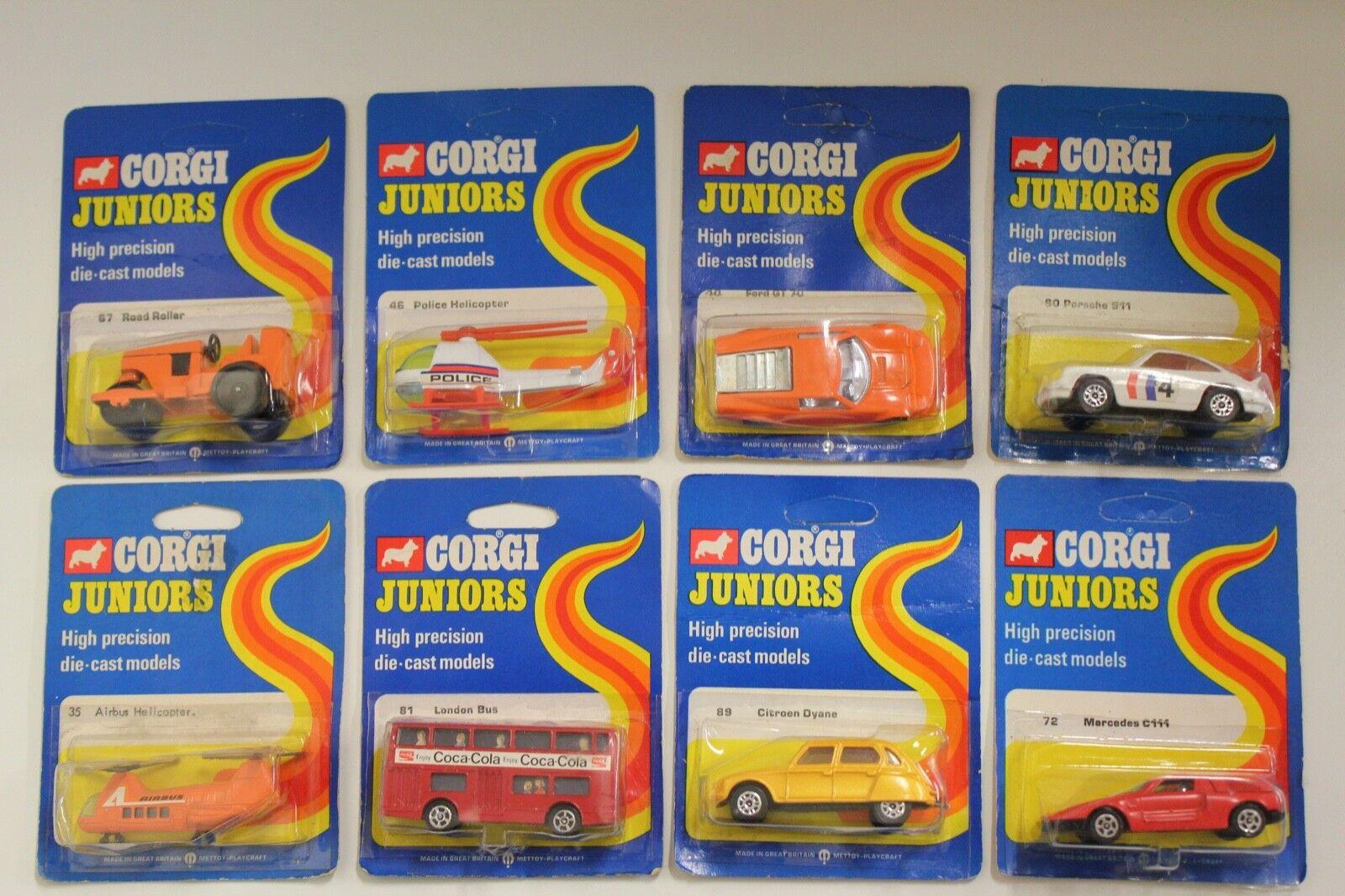 Corgi Juniors X8   10 10 10 35 46 67 72 80 81 89  (UNOPENED Original 1973) GREAT DEAL  422cd7