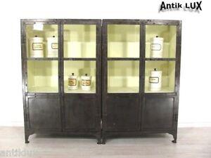 industriedesign vitrine anrichte loft m bel arztvitrine schauvitrine metall ebay. Black Bedroom Furniture Sets. Home Design Ideas