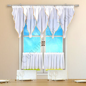 Hand-Made-Window-Kitchen-Set-Net-Curtain-For-You-Many-Colours-High-Quality-Voile
