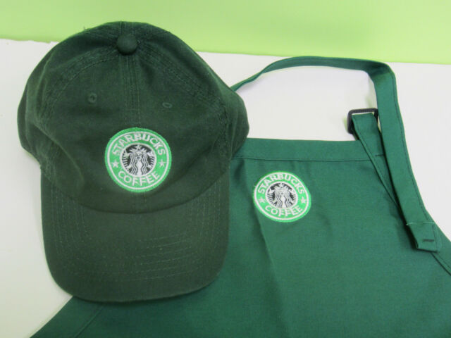 starbucks barista apron and hat setboth adjust one size fit all