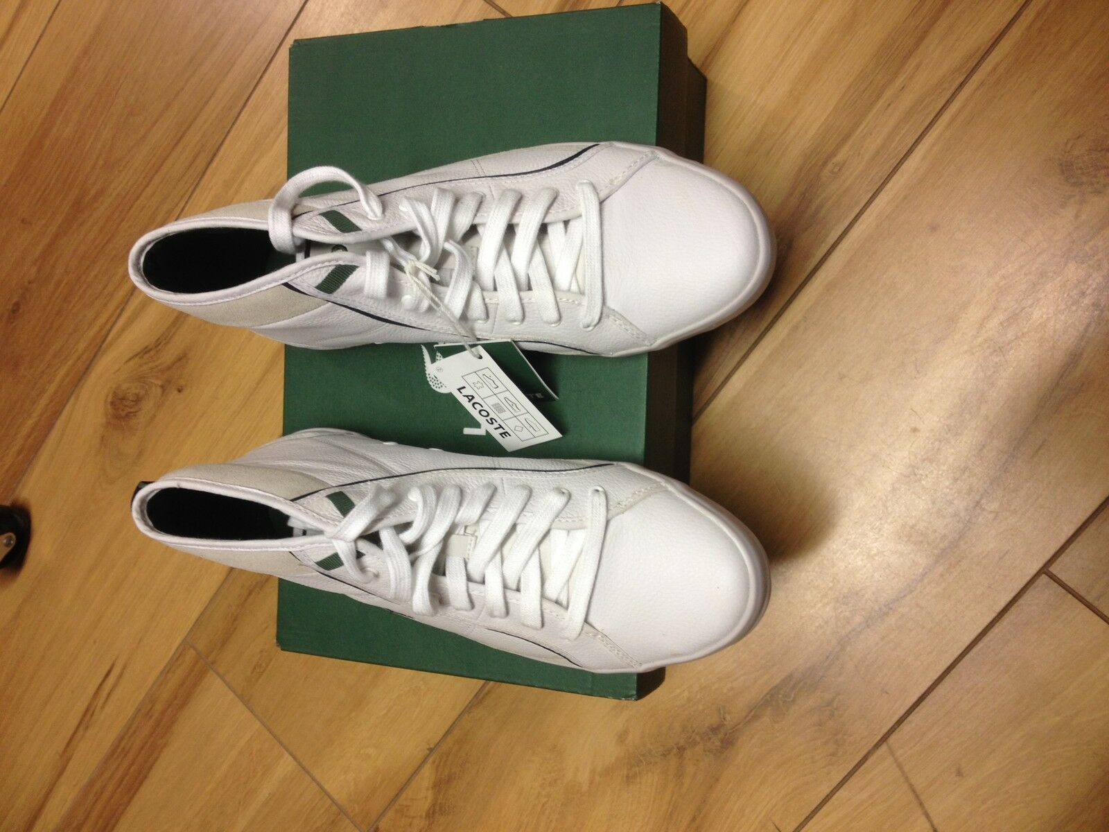 LACOSTE MENS HIGH TOPS IN WHITE 7