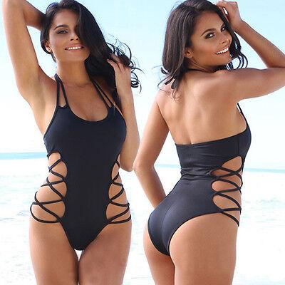 Sexy Women One Piece Swimsuit Swimwear Bathing Monokini Push Up Padded Bikini