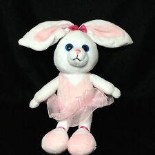 "The Petting Zoo White Pink Ballerina TuTu Bunny Rabbit Plush Soft Toy 18"" Ballet"