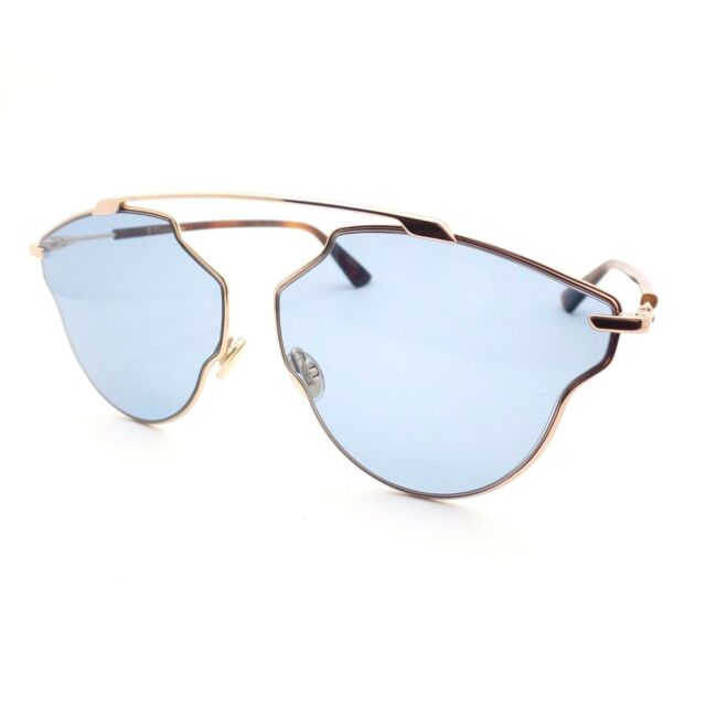 784666bc71 Christian Dior So Real Pop DDBKU Gold Copper Blue New Sunglasses Authentic  rl