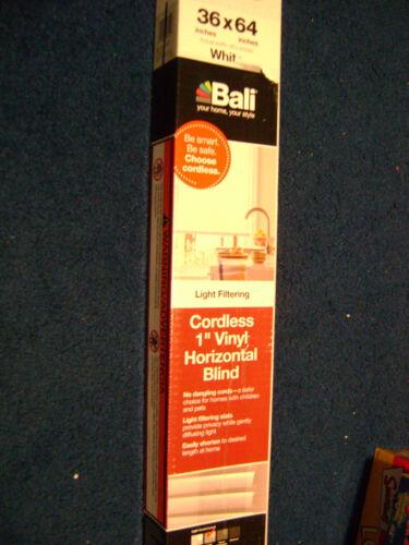 NEW IN BOX YOUR CHOICE BALI CORDLESS VINYL HORIZONTAL WINDOW BLINDS