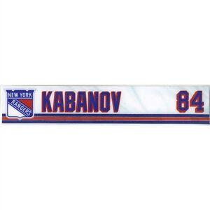 8a7a5930794 KIRILL KABANOV SKELLEFTEA AIK GAME USED NY RANGERS LOCKER ROOM NAME ...
