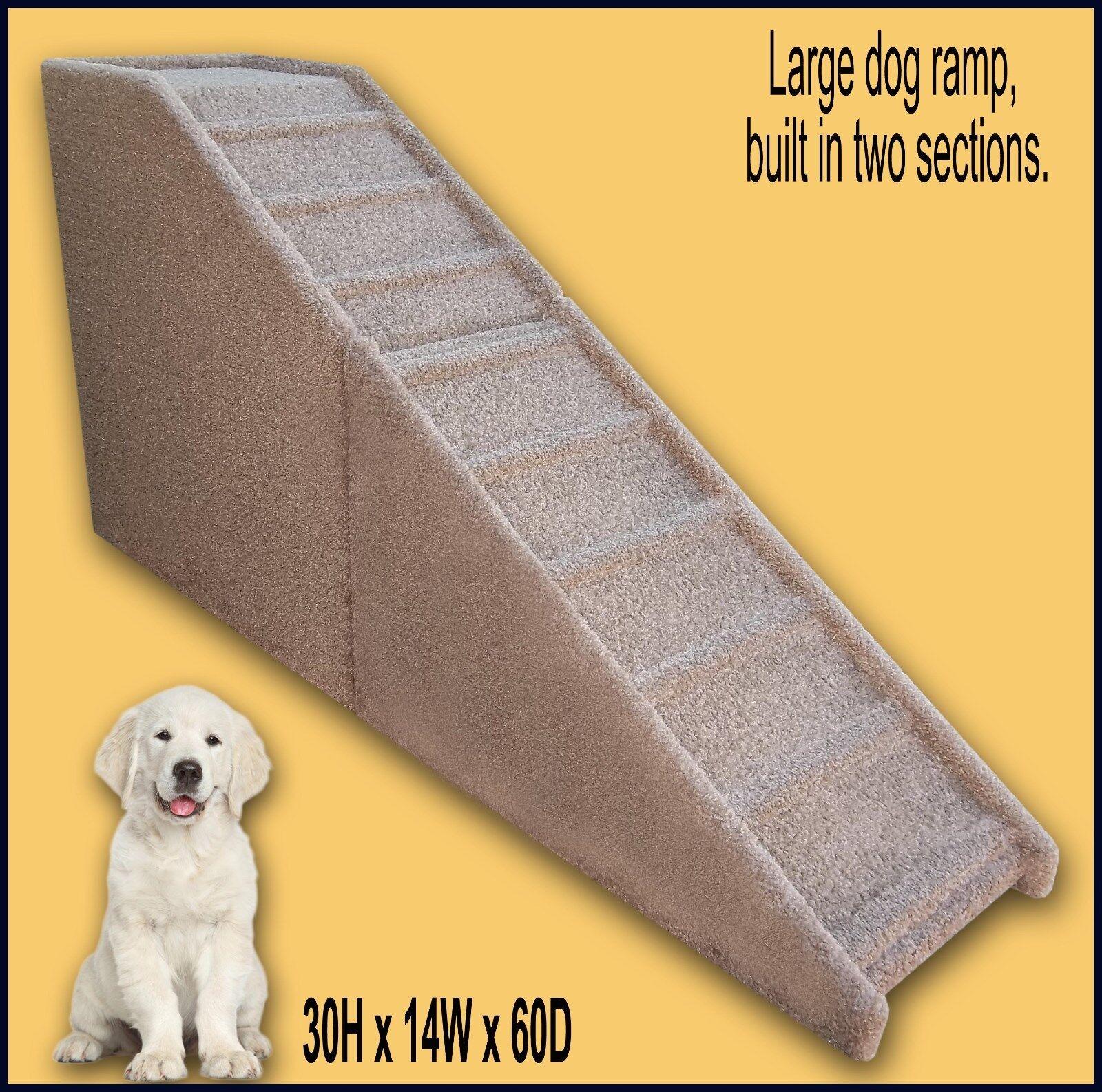 Dog Ramp 30  tall x 14  wide x 60  Deep Dog Ramp. Pet furniture.