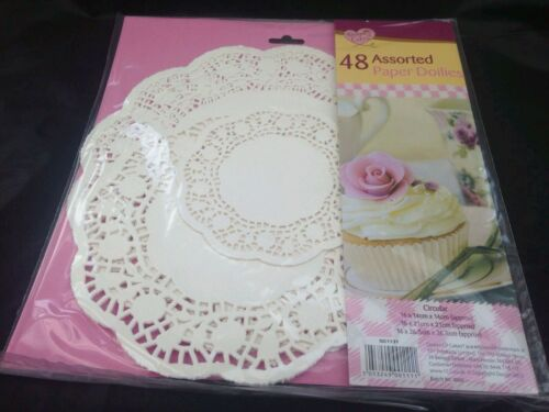 48x assorted doleys 3 sizes paper plate decorations wedding party