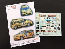DECAL 1:43 SEAT IBIZA KIT CAR #28 T.GARDEMEISTER/P.LUKANDER - RAC RALLYE 1998
