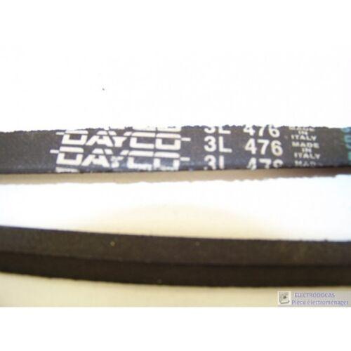 3L 476 courroie DAYCO pour lave linge