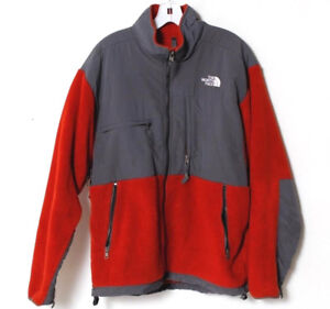 31c394718 Vintage The North Face Men's Denali Red Full-Zip Fleece Jacket Size ...