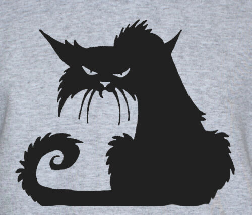 Grumpy Angry Cat T-Shirt Funny Grunge Kitty Printed Cute Graphic Tee Unisex