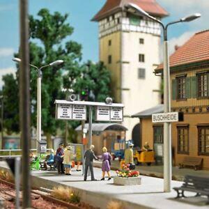 Estaci/ón ferroviaria de modelismo ferroviario H0 escala 1:87 Busch