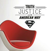 Superman Truth Justice And The American Way Wall Decals Dc Comics Stickers