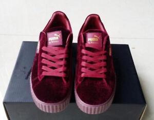 b0047e1bf9b2 New Velvet Puma Fenty PUMA Creeper Rihanna x Pack Trainer Sneaker ...