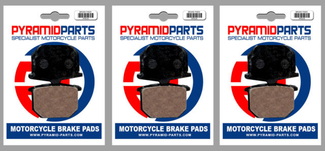 Front & Rear Brake Pads (3 Pairs) for Yamaha XS 650 SK, Heritage 1983