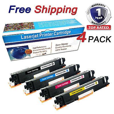 4PK CF350A 3A Toner Cartridge For HP 130A Color LaserJet Pro MFP M176n M177fw