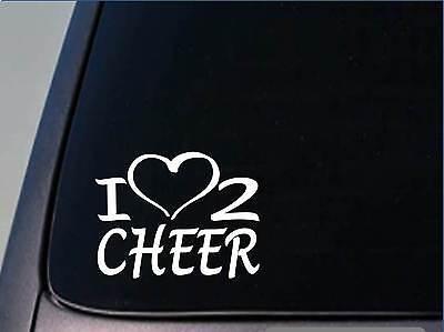 I heart to cheer sticker *H195* 8 inch wide vinyl cheerleading decal