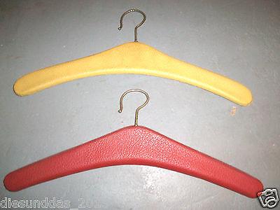 Vintage Kleiderhaken Garderobenbügel 2 Stück Kunstleder Gepolstert 50er/60er