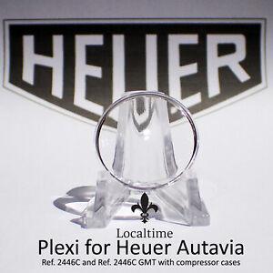Replacement-Plexi-For-Vintage-HEUER-Autavia-2446C-amp-2446C-GMT-Chronograph-Watch