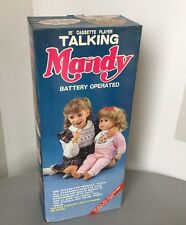VINTAGE#ANIMATRONIC TALKING MANDY  BATTERY OPERATED FUNNY TOYS WORLDS OF WONDER
