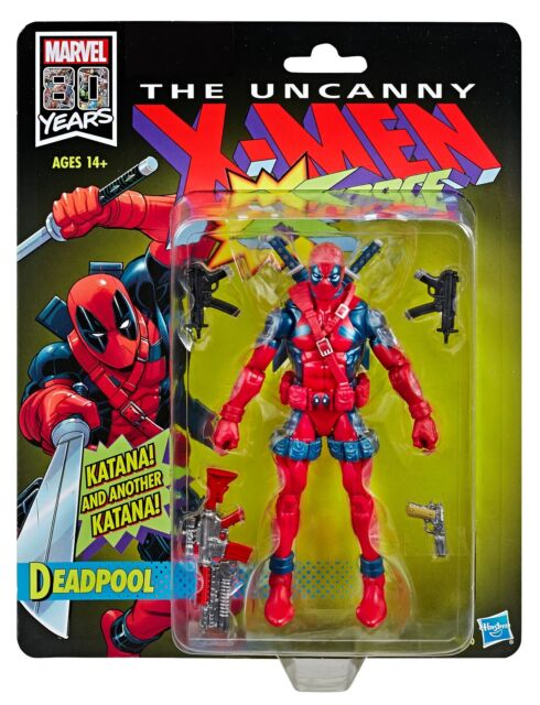 Marvel Legends 80th Anniversary X-men X-force Vintage Deadpool IN HAND