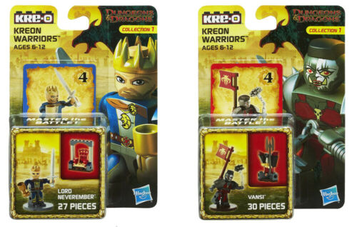 Kre-o Dungeons /& Dragons Kreon Warriors Lord Neverember /& Vansi 2 Pack