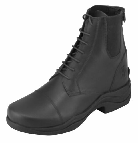 Ryder Laced Jodhpurs Back Zip Thick Rubber Sole Riding Boots Black Brown Wymo