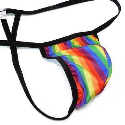 K403 P Mens String Thong Grape Smugglers Contoured Pouch NEW Prints underwear