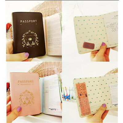 Travel Utility Simple Passport ID Card Cover Holder Case Protector Skin PVC JG