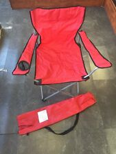 Adult Sizes Red Folding Collapsible Camp Chair Tailgating Chair Seat