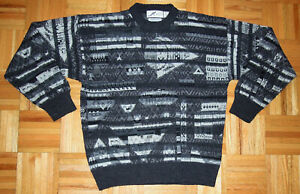 Pullover abstrakte Wollmischung Bill Cosby Biggie COOGI Style Les Mues Paris Japan Groß