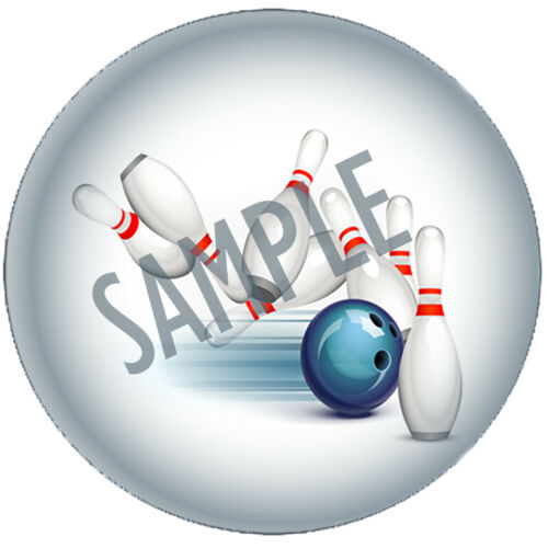 Personalised bowling party stickers sweet cone bag labels gift stickers