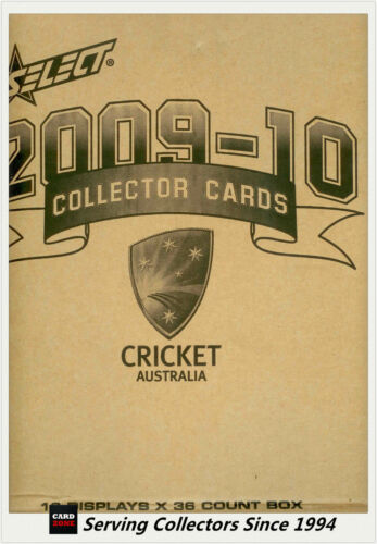 2009-10 Select Cricket Trading Cards Factory Case (16 Boxes + Case Card)