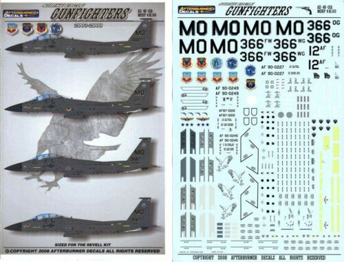 Afterburner Decals 1:48 Strike Eagle Gunfighters 2003-2008 for Revell #AD48-031