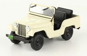 IKA Jeep 1956 Sällsynt silverina tärningskast bil skala 1 43 Ny Magazine