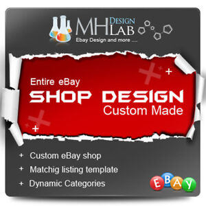 Professional Custom Ebay Shop Store Design Complete Pages Listing