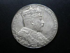 Edward VII 1902 Silver Coronation Medal (gEF-aUnc) Dia: 31 mm