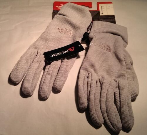 NWT THE NORTH FACE POLARTEC SURREAL GOLVES LIGHT GRAY LARGE 100/% AUTHENTIC
