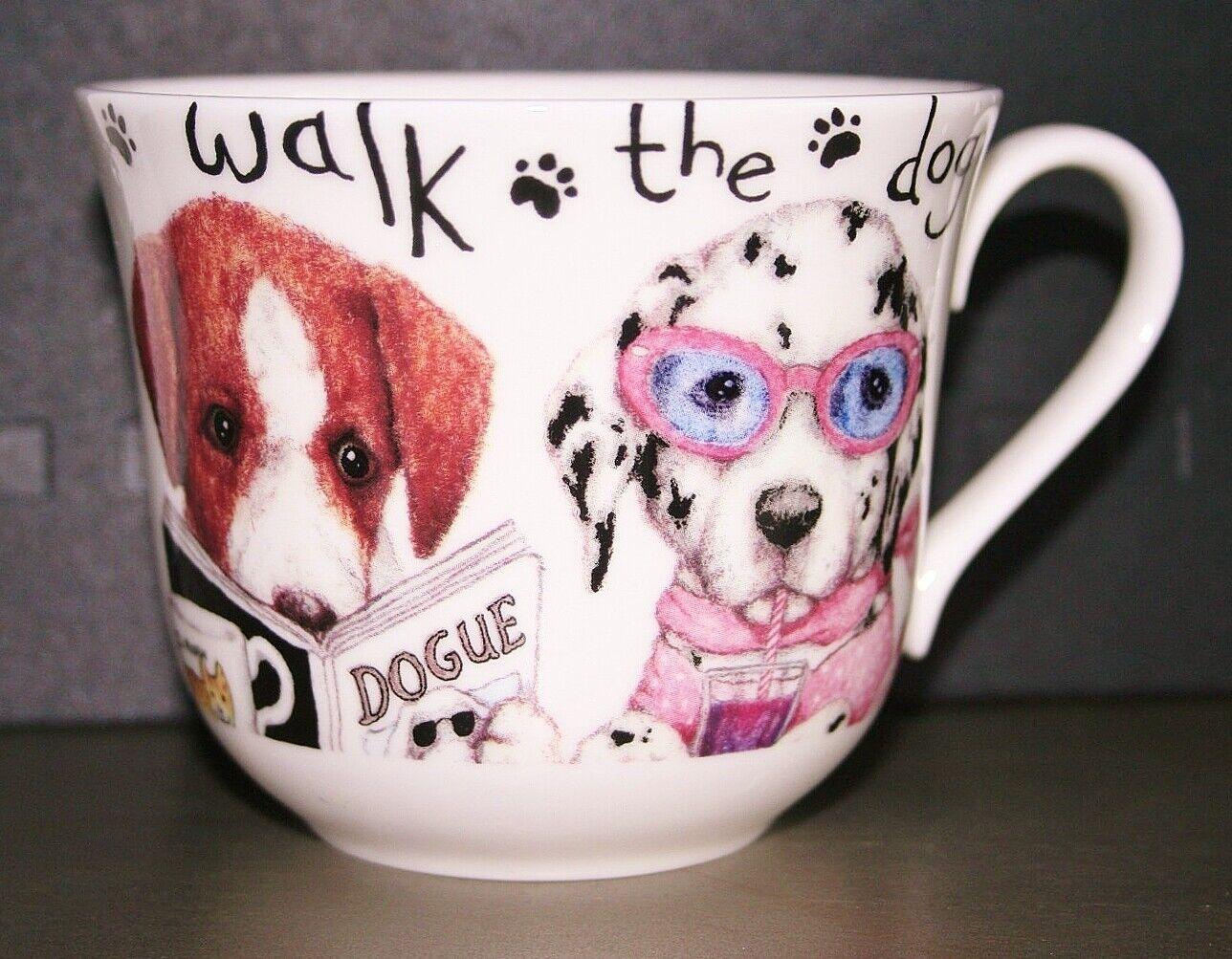 Roy Kirkham Large Breakfast Cup /'Animal Fashion/' Dog Fine Bone China NEW