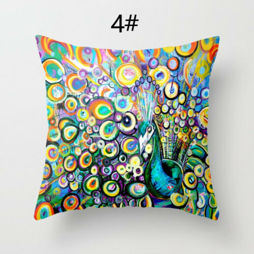 Colorful Feather Pillow Case Sofa Throw Cushion Cover Pillow Cover Home Decor