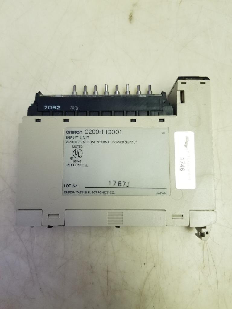 OMRON C200H-ID001 INPUT UNIT 24VDC 7MA NEW