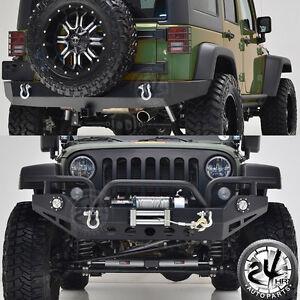 07 18 jeep jk wrangler front bumper w led lights full width rear Custom Jeeps image is loading 07 18 jeep jk wrangler front bumper w